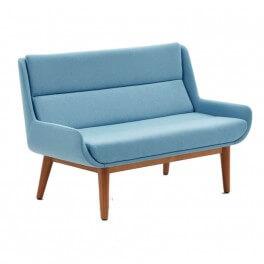 Hush Low Sofa w/ Wood Base